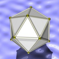 Ray-traced icosahedron
